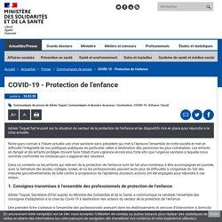 COVID-19 - Protection de l'enfance