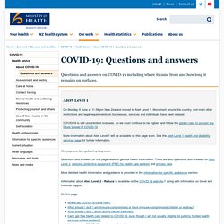 COVID-19: Questions and answers