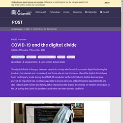 Mélodie - COVID-19 and the digital divide - POST