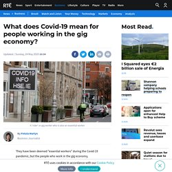 Covid-19 and its impact on the gig economy