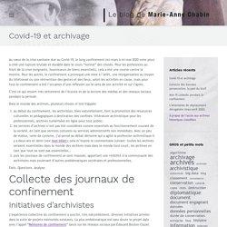 Covid-19 et archivage - Le blog de Marie-Anne Chabin