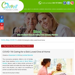 COVID-19: Caring for a Sick Loved One at Home