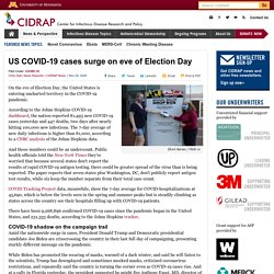 US COVID-19 cases surge on eve of Election Day