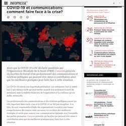 COVID-19 et communications: comment faire face à la crise?