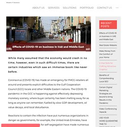 COVID effects on business in UAE and Middle East
