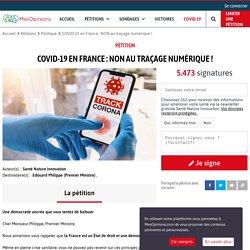 COVID-19 en France : NON au traçage numérique !