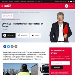 COVID-19 : les frontières sont de retour en Europe
