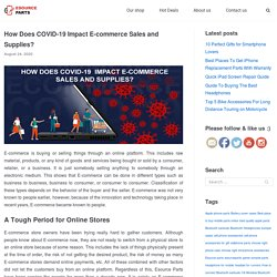 How Does COVID-19 Impact E-commerce Sales and Supplies?