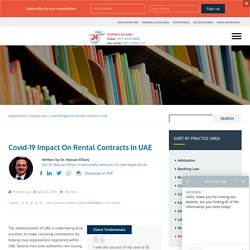 Covid-19 Impact On Rental Contracts Explained By A Property Advocate