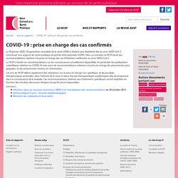 HCSP-COVID-19 : prise en charge des cas confirmés