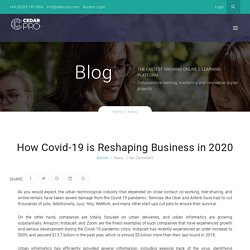 Covid-19 Reshaping Businesses in 2020