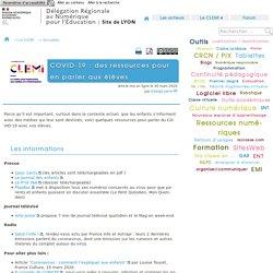 COVID-19 : des ressources pour en parler aux élèves - [DANE de Lyon]
