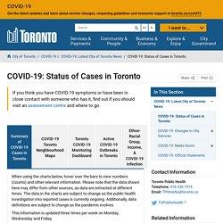 COVID-19: Status of Cases in Toronto – City of Toronto