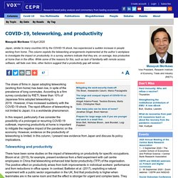 COVID-19, teleworking, and productivity