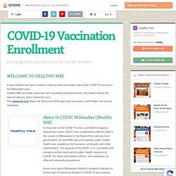 COVID-19 Vaccination Enrollment