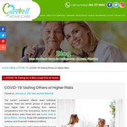 COVID-19: Visiting Others at Higher Risks