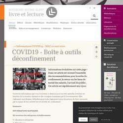 COVID19 - Boîte à outils déconfinement – Auvergne-Rhône-Alpes - Livre et lecture