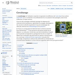 Wikipedia : Covoiturage