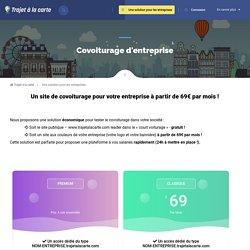 Covoiturage d'entreprise, créer votre site à partir de 99€ par mois !
