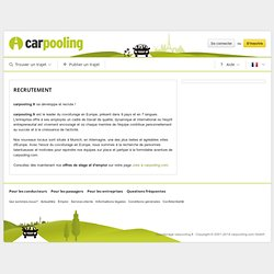 Covoiturage N°1 en Europe | carpooling.fr