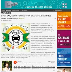 Open Car, covoiturage 100% gratuit à Grenoble