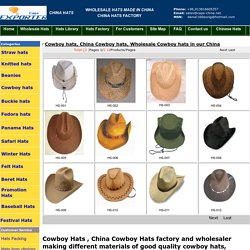 Wholesale Cowboy hats in our China