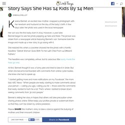 Coworker Sees Mom In The News, But The Story Says She Has 14 Kids By 14 Men