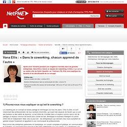 """Vana Ellis : """"Dans le coworking, chacun apprend de l'autre"""" NetPME"""