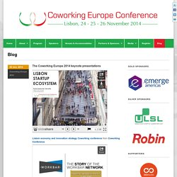 Blog - Coworking Conference 2014 - Lisbon