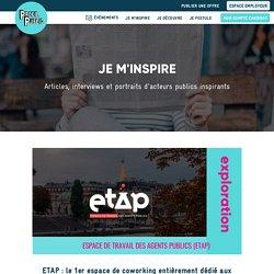 ETAP : le 1er espace de coworking entièrement dédié aux agents publics. - Profil Public