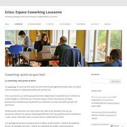 Eclau: Espace Coworking Lausanne