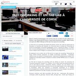 Du coworking et un Fab Lab à l'Université de Corse