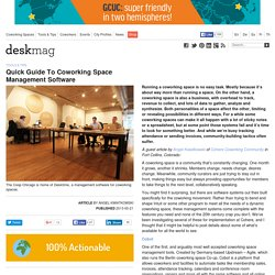 Quick Guide To Coworking Space Management Software