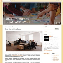 Small Shared Office Space