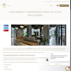 Coworking Space KL: our Newest Space at Star Boulevard, KLCC