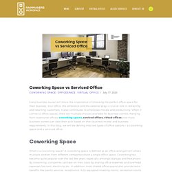 Coworking Space vs Serviced Office - Rainmakers Co Working Space