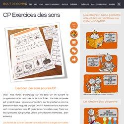 CP Exercices des sons