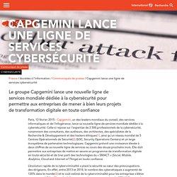 Capgemini lance une ligne de services cybersécurité