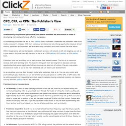 CPC, CPA, or CPM: The Publisher's View - ClickZ