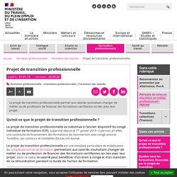 CPF de transition professionnelle