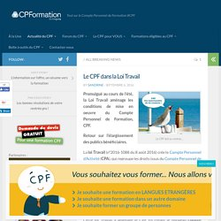 Tout sur le Compte Personnel de Formation (CPF)