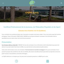 CPJEPS AAVQ - Association ARDAM