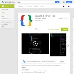 CppDroid - C/C++ IDE – Android-appar på Google Play