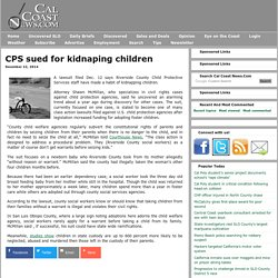 CPS sued for kidnaping children