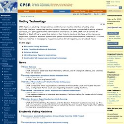 "Voting Technology, site du ""Computer Professionals for Social Responsibility"""