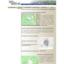 CPTAQ :Cartographie - Géomatique