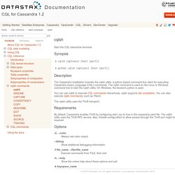 DataStax CQL 3.0 Documentation
