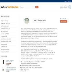 CR1 3N Battery