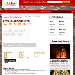 Crab Salad Sandwich Recipe from CDKitchen