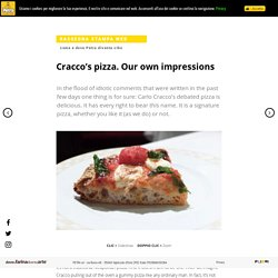 Cracco's pizza. Our own impressions